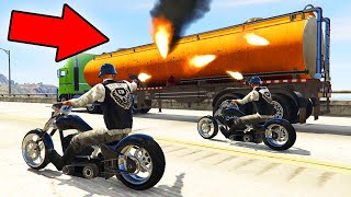 TAKE DOWN THE ARMORED TRUCK CHALLENGE! (GTA 5 Funny Moments)
