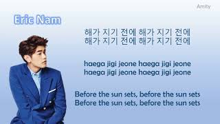 Eric Nam   Before The Sun Sets Color Coded Lyrics (Han|Rom|Eng)