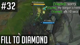 League of Legends Fill to Diamond but my ADC kept going afk to eat a burger and I wish I was kidding