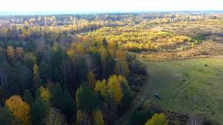 Осень. Полёт на квадрокоптере Hubsan zino pro плюс. Красивые Стихи про Осень.