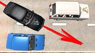 СМЕРТЕЛЬНЫЙ ПОДРЕЗ! БЫДЛО НА BMW УСТРОИЛ МАССОВУЮ АВАРИЮ | BeamNG.drive