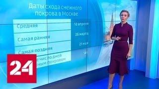 """""""Погода 24"""": в Москву идет настоящая весна - Россия 24"""