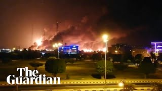 Drones attacked the world's largest oil processing facility in Saudi Arabia and a major oilfield operated by Saudi Aramco early on Saturday, the kingdom's interior ministry said, sparking a huge fire at a processor crucial to global energy supplies. It was not clear if there were any injuries in the attacks, nor what effect it would have on oil production in the kingdom  Major Saudi Arabia oil facilities hit by drone strikes