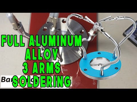 Full Aluminum Alloy 3 Arms Soldering Station Base Fixture Universal Strange Third Hand Welding Tools