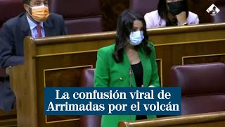 """""""Todo nuestro apoyo a Las Palmas"""": la confusión viral de Arrimadas por el volcán Cumbre Vieja"""