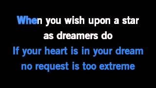 When You Wish Upon A Star Karaoke Original Disney