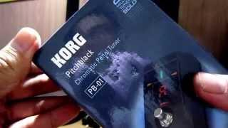 แกะกล่อง uNbox korg pitchblack TUNER PB01 (think-art)