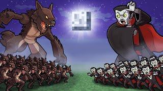 Werewolf vs Vampire - SCARY MAP WARS! (Minecraft)