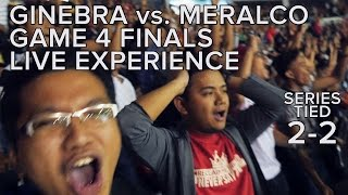 (My Live Experience in 4K) PBA Finals 2016 Game 4: Ginebra vs. Meralco Reaction Video