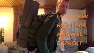 Brandit US Cooper Rucksack maximal bepackt