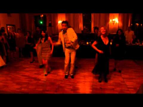 Janet and Michael Jackson Thriller If Rhythm Nation Beat it performance at a Wedding