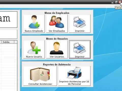 sistema de asistencia de personal