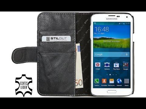 Handyhülle für Samsung Galaxy S5 aus echtem Leder von StilGut