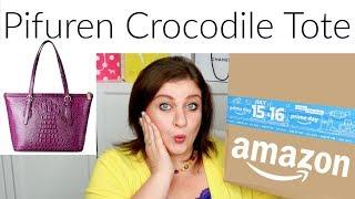 Amazing Amazon Handbag Pifuren Crocodile Pattern Purse Tote Shoulder Unboxing And Review