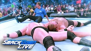 Brock Lesnar and Big Show make the SmackDown ring