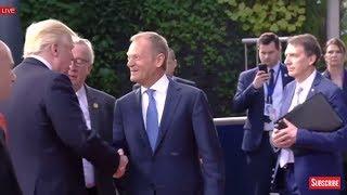 President Donald Trump Departs meeting with EU leaders - European Union Headquarters Meeting