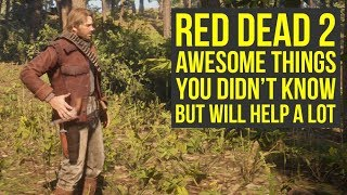 Red Dead Redemption 2 Tips AWESOME THINGS You Likely Didn't Know, But Will Help (RDR2 Tips)