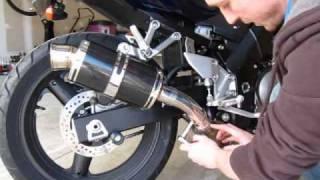 Part 3 Of 3 - Suzuki SV650 Slip On Exhaust Install - Delkevic Carbon Fiber Mini