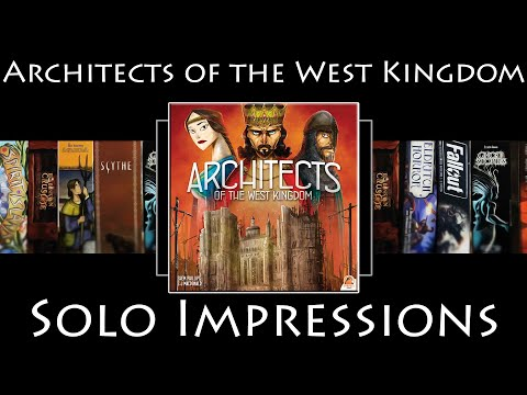 Soloed Quest! - Architects of the West Kingdom - Solo Impressions