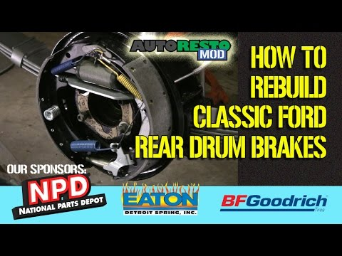 Detailed How To Rebuild Classic Ford Passenger Car Rear Drum Brakes Episode 287 Autorestomod Mp3