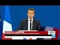 REPLAY - Discours d'Emmanuel Macron en tête du 1er tour de la Présidenti...