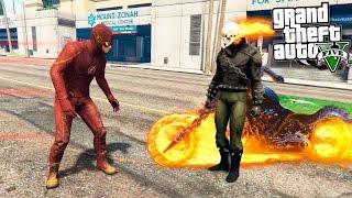 GTA 5 Моды - Призрачный Гонщик против Флэша! - Flash vs Ghost Rider