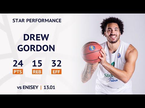 Star Performance. Drew Gordon vs Enisey - 24 PTS, 15 REB, 32 EFF | Season 2019/20