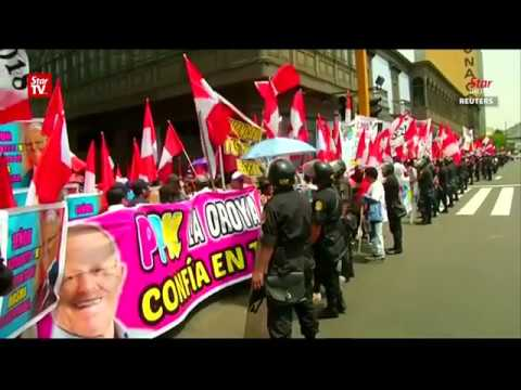 Violent clashes in Peru after ex-leader pardoned