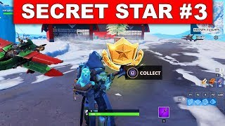 SECRET BATTLE STAR WEEK 3 SEASON 7 LOCATION! - Fortnite Battle Royale (Snowfall Challenges)
