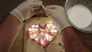 DIY Glowing Heart Art   Led Heart Decoration   Heart Lantern