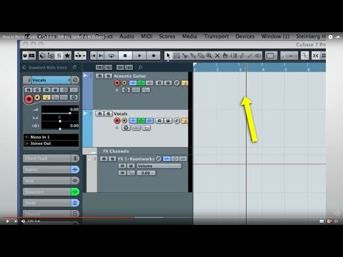 Cubase 7 Quick Start Video Tutorials – Chapter 3 – Basic audio recording