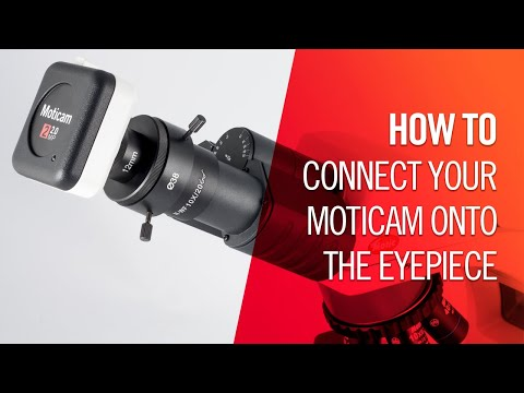 How to connect your Moticam onto the eyepiece