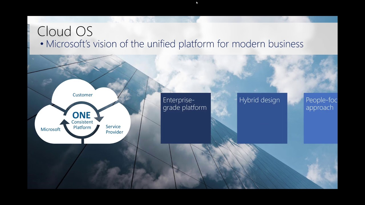 End to end strategy on the Microsoft Cloud