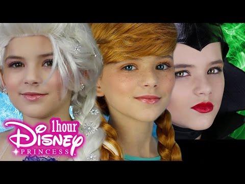 1 Hour Disney Princess Makeup! Frozen Elsa, Anna, Maleficent, Inside Out Disgust & More! KITTIESMAMA