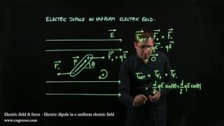 17 - Electric field & force - Electric dipole in uniform electric field