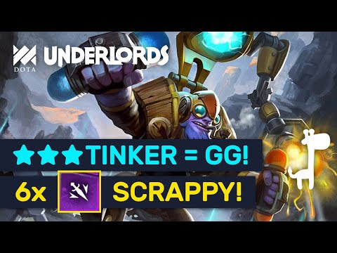 ★★★ TINKER IS GG! Epic ★★★ Scrappy 6 Assassins Build! | Dota Underlords