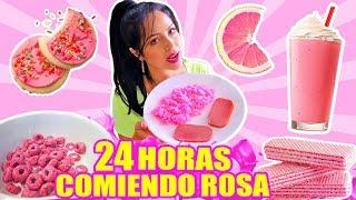 24 HORAS COMIENDO ROSA | RETO SandraCiresArt | All Day Eating Pink Food Challenge