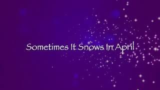 "BANKSMAN ft  JULIA HUFF ""Sometimes It Snows In April"" (Lyric Video)"