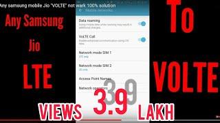 SAMSUNG JIO 4G voLTE&LTE PROBLEM FIX 100℅ SOLVED - Самые
