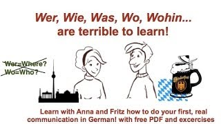 German question words - how to build questions - wer, was, wo, woher... - with exercises