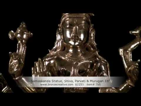 SOLD Bronze Gold Somaskanda Statue 18