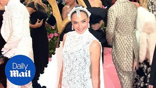 Gal Gadot stuns in white cape on 2019 Met Gala red carpet