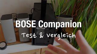 BOSE Companion 20 vs 50 PC Lautsprecher (Sound Test & Rauschen)