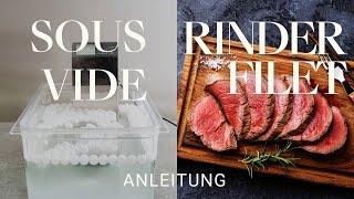 SOUS VIDE Rinderfilet TEST: Wie schmeckt es am besten? Alex erklärt das Sous Vide Garen!