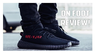 Yeezy Boost 350 V2 Black/Red CP9652 On Foot Review!