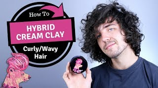 ✅ BluMaan Hybrid Cream Clay On Curly/Wavy Hair (How To)  - Mens Long Hairstyles