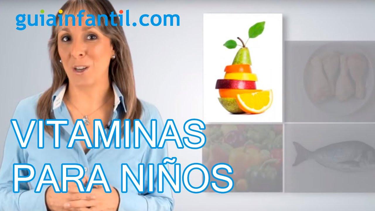 ¿Qué vitaminas deben tomar los niños para tener buena salud?