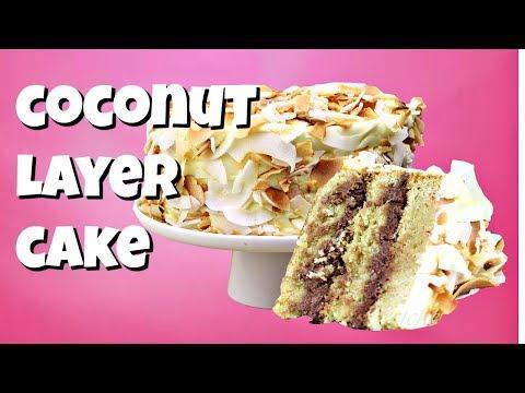 Coconut Layer Cake Recipe || Gretchen's Vegan Bakery