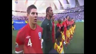 2010 World Cup - England National Anthem v Slovenia