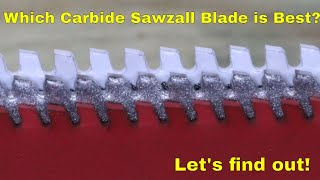 Which CARBIDE Thick Metal Sawzall Blade is Best? Let